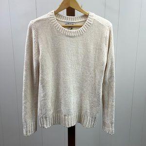Orvis NWT Cream Chenille Pullover Sweater